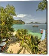 Tropical Harbour Canvas Print