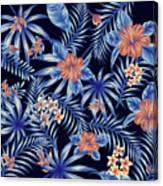 Tropical Leaf Pattern 4 Canvas Print