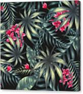 Tropical Leaf Pattern  Canvas Print