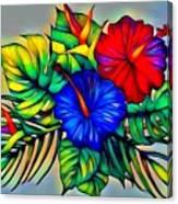 Tropical Neon Boutique  Canvas Print