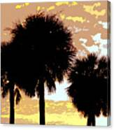 Tropical Palms Work Number Four Canvas Print
