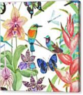Tropical Paradise Dragonfly Canvas Print