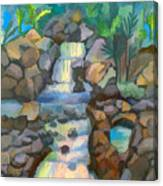 Tropical Rainbow Waterfall Canvas Print