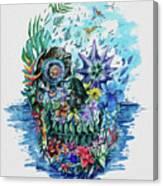 Tropical Skull 2 Canvas Print