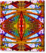 Tropical Stained Glass Canvas Print