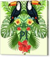 Tropical Summer  Canvas Print