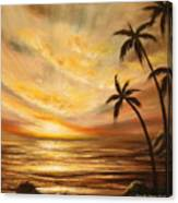 Tropical Sunset 64 Canvas Print