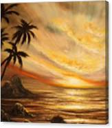 Tropical Sunset 65 Canvas Print