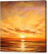Tropical Sunset 75 Canvas Print