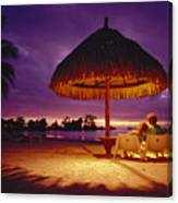 Tropical Tahitian View Canvas Print