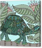 Tropical Turtle Canvas Print