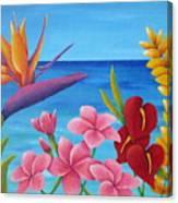 Tropical View Canvas Print