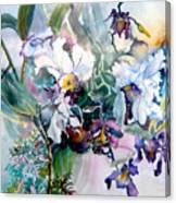 Tropical White Orchids Canvas Print