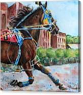 trotter standardbred Horse at the Little Brown Jug Canvas Print