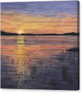 Trout Lake Sunset II Canvas Print