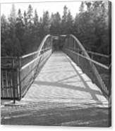 Trowbridge Falls Bridge Bw Canvas Print