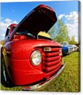 Truck Headlight Canvas Print