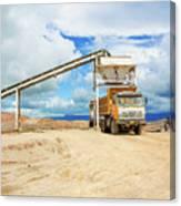 Truck Loading Gravel In Tabnzania. Canvas Print