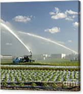 Truck Mounted Irrigation Canvas Print