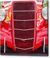 Truck Red Canvas Print