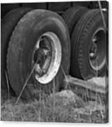 Truck Tires Canvas Print