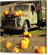Trucked In Pumpkins Canvas Print