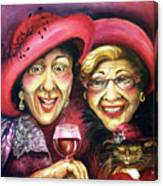 Trudy And Grace Play Dressup Canvas Print