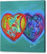 True Blue Hearts Canvas Print