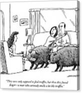 Truffle Hogs Canvas Print