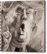 Trump A Dengerous A-hole Canvas Print