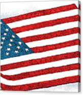 Trump Sweeps Under The Flag Rug Canvas Print
