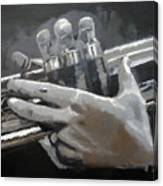 Trumpet Hands Canvas Print