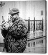 Trumpet In The Rain 2 - Nola Canvas Print