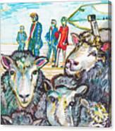 Trump,sheep And Dolly Clone Canvas Print