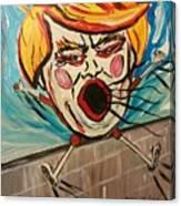 Trumpty Dumpty Falling Off His Imaginary Wall Canvas Print