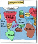 Trumpworld Map Canvas Print