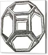 Truncated Octahedron With Open Faces Canvas Print