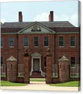 Tryon Palace Front With Gaurd Posts Canvas Print