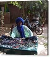 Tuareg Man Selling Jewelry Canvas Print