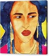 Tuareg Woman Canvas Print