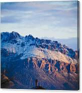 Tucson Mountains Snow Canvas Print