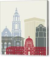 Tucson Skyline Poster Canvas Print
