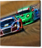 Tudor Audi R8 Races Porsche 911rsr United Sportcar Championship Canvas Print
