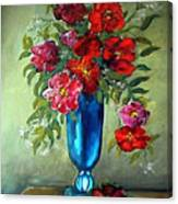 Tueday Afternoon He Brought Flowers Canvas Print
