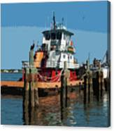 Tug Indian River At Port Canaveral In Florida Usa Canvas Print