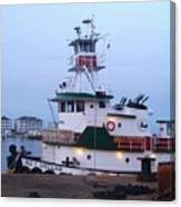 Tugboat At Twilight Canvas Print