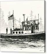 Tugboat Henrietta Foss Canvas Print