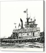 Tugboat Shelley Foss Canvas Print