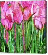 Tulip Bloomies 1 - Pink Canvas Print