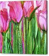Tulip Bloomies 2 - Pink Canvas Print